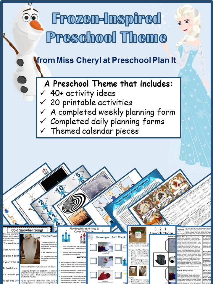 Frozen Preschool Theme Pack