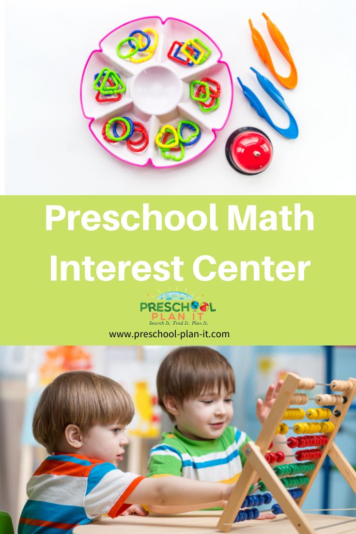 Preschool Math Interest Center