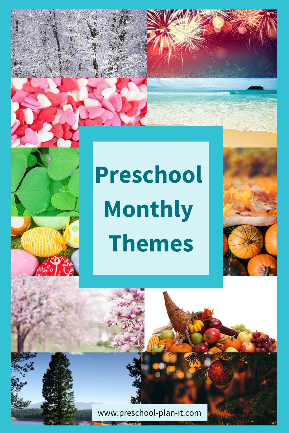 Images for each month for preschool monthly themes