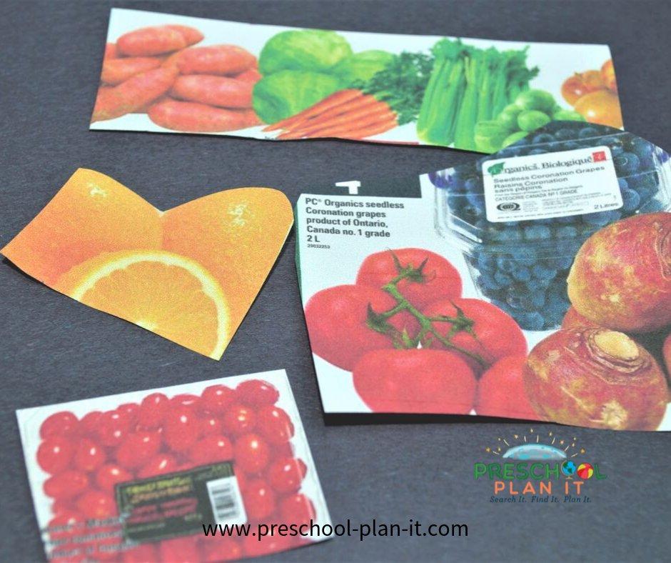 Preschool Nutrition Theme Art Activity