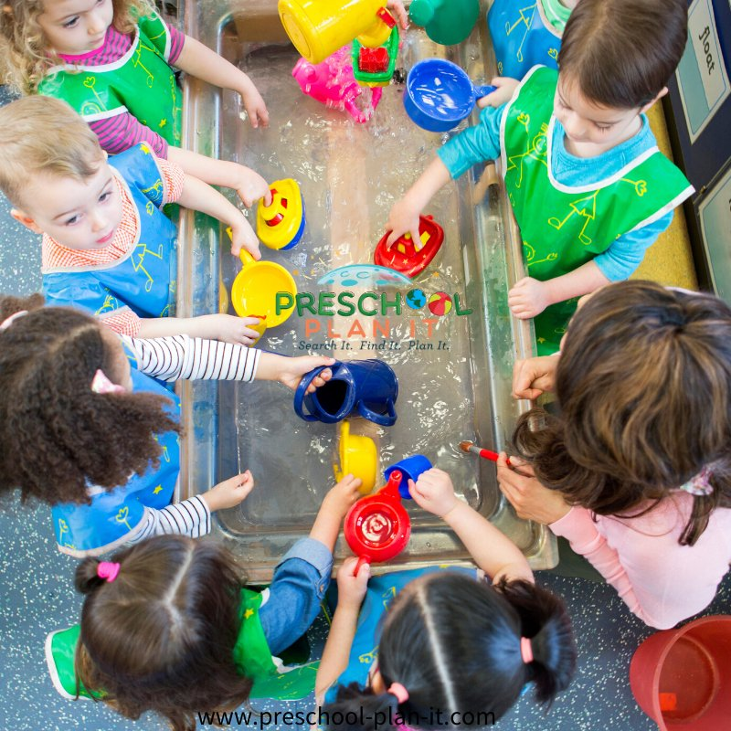 Sand and Water Table in Preschool