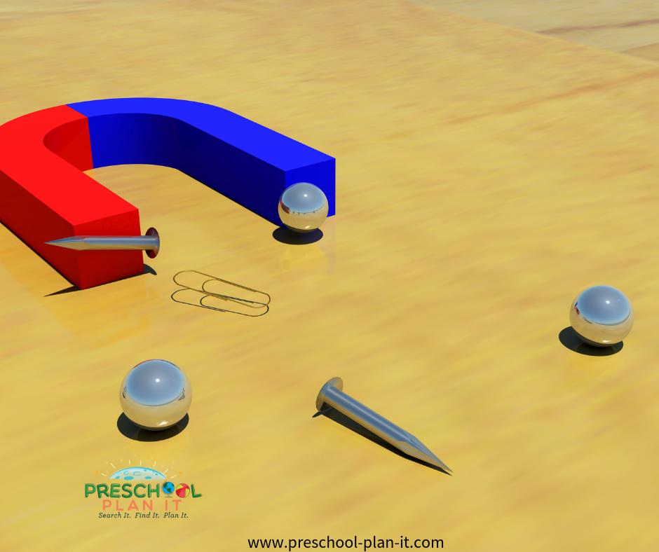 Preschool Science Activities with Magnets