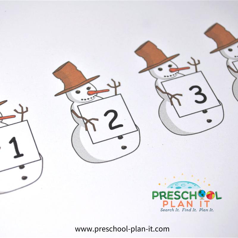 Preschool Snow Theme Matching Activity