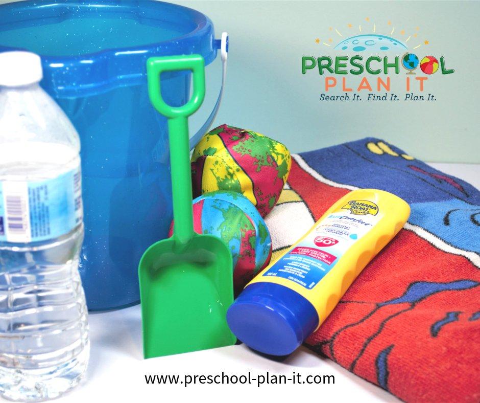 Dramatic Play Beach Scene for Preschool Summer Theme