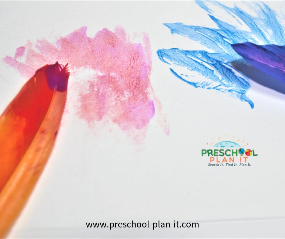 Preschool Thanksgiving Activities Feather Painting