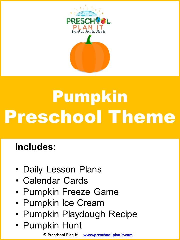 A 42 page Preschool Pumpkin Theme--this is a week-long theme packet to help save you planning time!