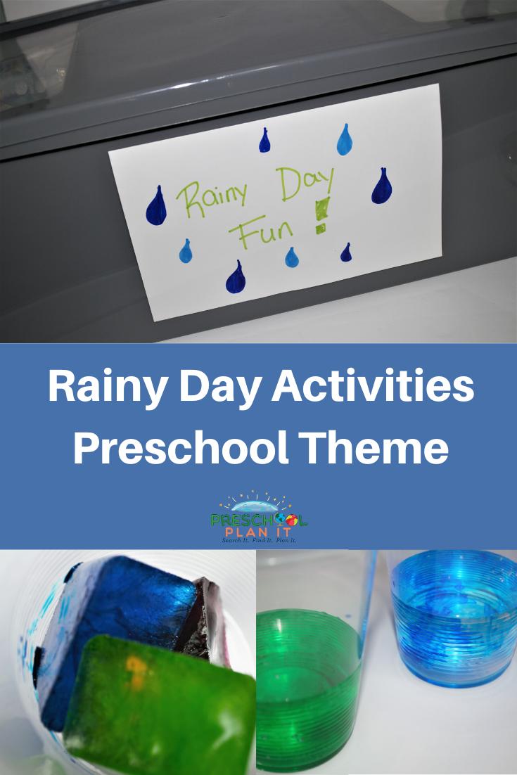 Rainy Days Activities Preschool Theme