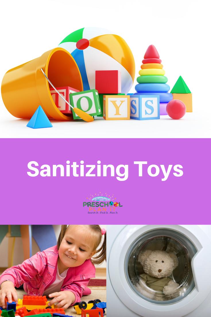 Sanitizing Toys in Preschool Classroom