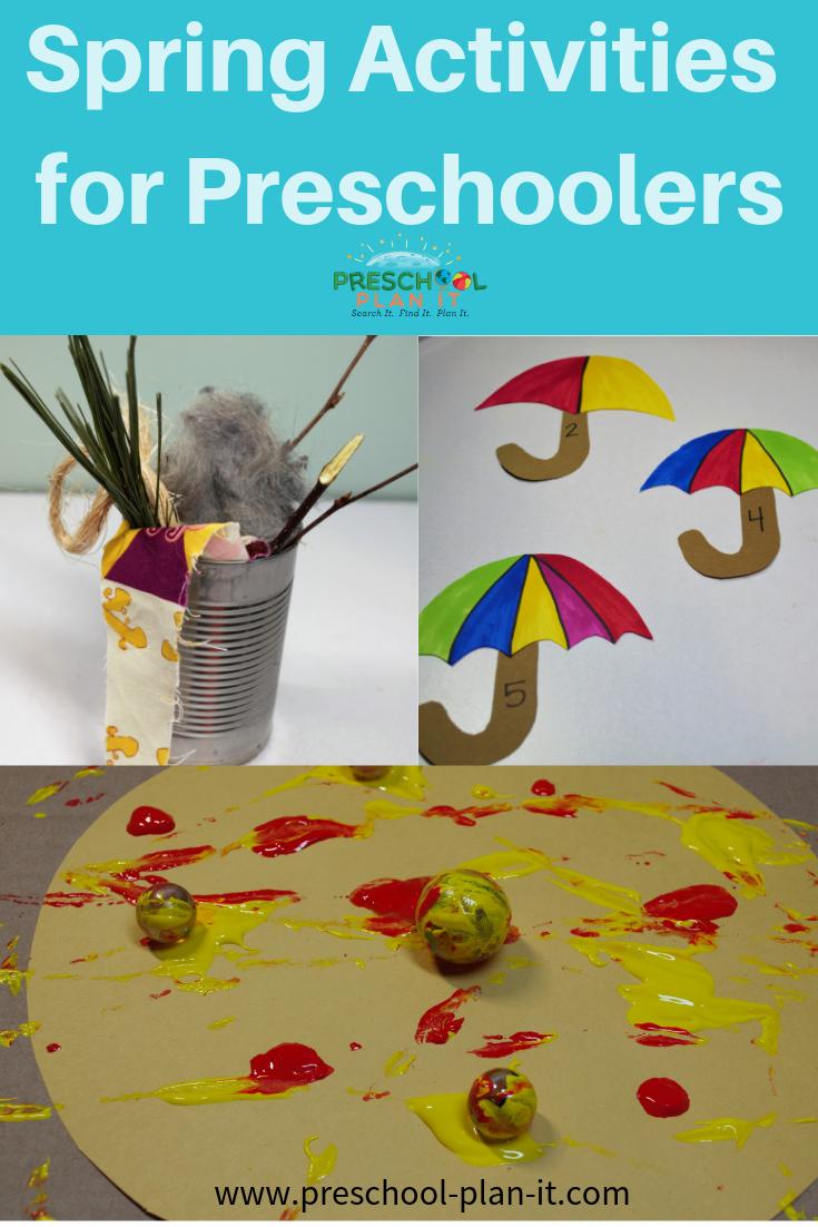 Spring Activities Preschool Theme