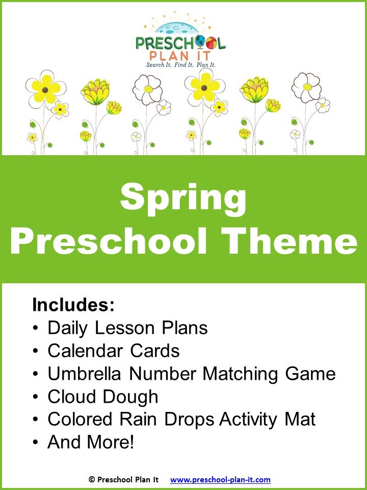 A 31 page Spring Preschool Theme resource packet to help save you planning time!