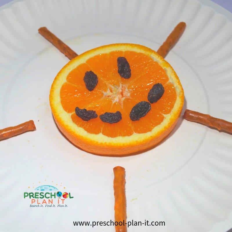 Snack Idea for a Sun Preschool Theme