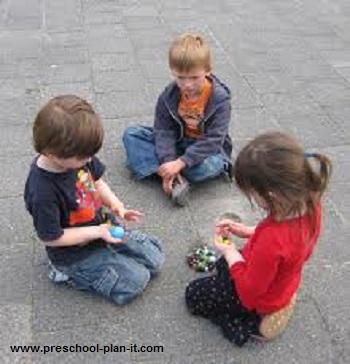 Teaching preschoolers to share and take turns.