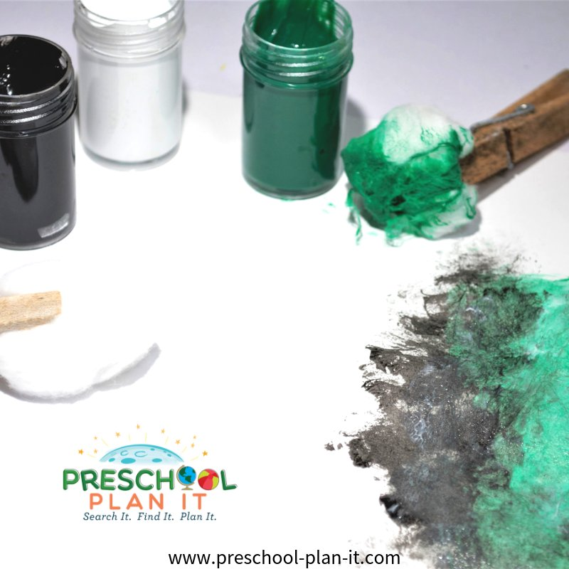 Art Activity for a Tornadoes Theme for Preschool