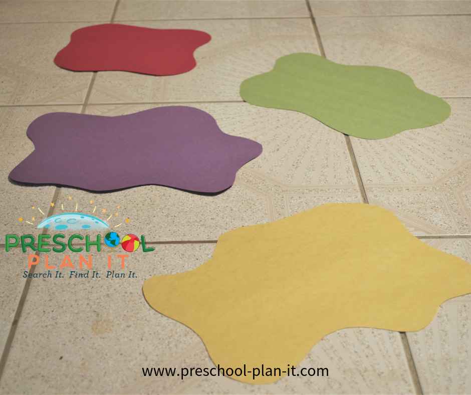 Puddle Hopping Fun for a Tornadoes Theme for Preschool