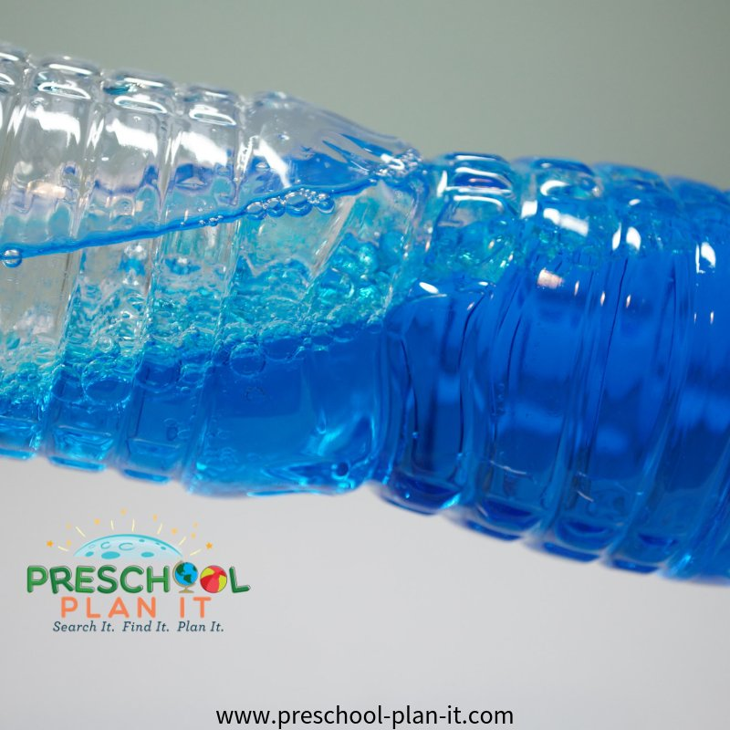 Ocean Discovery Bottles for a Preschool Transportation Theme