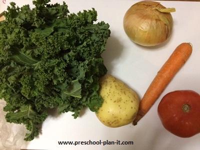 Vegetable Soup in Preschool