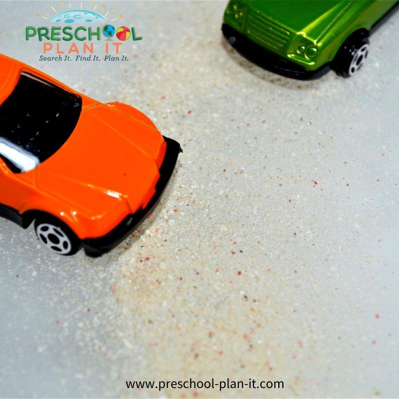 Winter Preschool Theme Sand Table Idea